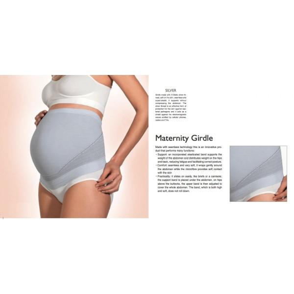 ▻ Ceinture de grossesse blindage anti ondes argent df7d34a3725