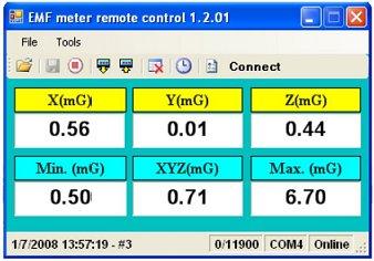 Datalogging gaussmeter