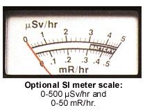 indicateur analogique du compteur geiger monitor 4